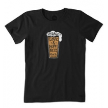 Peace Love Hoppy Crusher Tee - Women's - Night Black In Size in State College, PA
