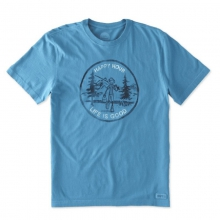 Men's Happy Hour Jake Fish Crusher Tee by Life Is Good