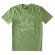Men's Get Out Trees Crusher Tee by Life Is Good