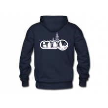 Men's Navy Tree Zip Hoodie