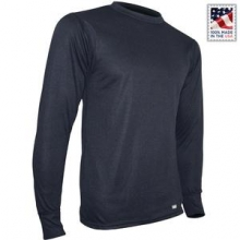 Double Layer Crew Baselayer Top Men's, Black, S by PolarMax