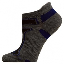 Ultra Light No Show Running Sock Adults', Grey/Royal, XL