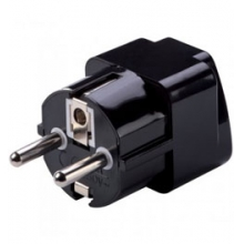 Grounded Adapter Plug for Europe and Asia - Black in Solana Beach, CA