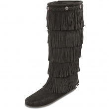 Women's 5-Layer Fringe Boot by Minnetonka