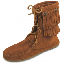 Women's Double Fringe Tramper Boot by Minnetonka