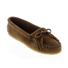 - Kilty Suede Moccasin Dusty Brown by Minnetonka