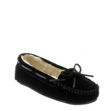 Cally Slipper BLACK by Minnetonka