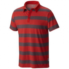 Men's ADL Striped Short Sleeve Polo by Mountain Hardwear