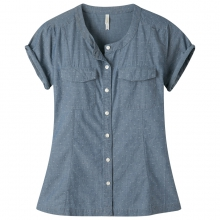 Women's Amie Indigo Short Sleeve Shirt by Mountain Khakis in Oxford Ms