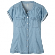 Women's Amie Indigo Short Sleeve Shirt by Mountain Khakis in Granville Oh