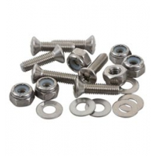 #10-32 Oval Head 1 Inch Fastener Set (Screw, Nyloc Nut, Washer) - In Size: 1in by Sea-lect Designs