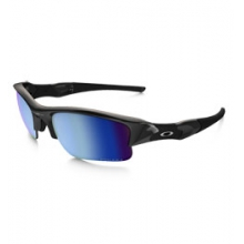 Flak Jacket XLJ H20 Deep Polarized Sunglasses - Polished Black/Prizm Salt Water Polarized