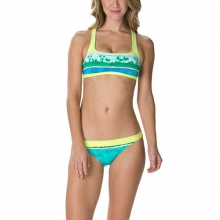Ocean Minded Sports Bra Bikini Top - Women's: Soft Citrons Multi, Small
