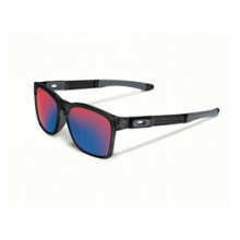 Catalyst Iridium Sunglasses - Men's - Black Ink/Positive Red by Oakley