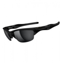 Half Jacket 2.0 with Polarized Lenses - Polished Black/Black