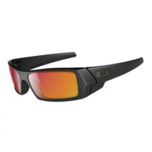 Gascan Sunglasses - Matte Black/Ruby Iridium by Oakley
