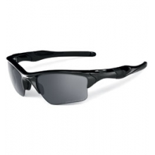 Half Jacket 2.0 XL Polarized Sunglasses - Polished Black/Black Iridium Polarized by Oakley