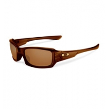 Fives Squared Polarized (Non-Iridium) Sunglasses - Polished Root Beer/Bronze Polarized