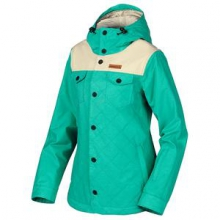 Spotlight BioZone Insulated Snowboard Jacket Women's, Peacock, L by Oakley