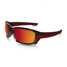 Straightlink Iridium Polarized Sunglasses - Men's - Polished Black/Torch Iridium Polarized