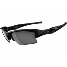 Flak Jacket XLJ Sunglasses Jet Blk/Blk Irid Polarized 12-903