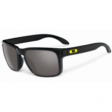 Holbrook Sunglasses - Valentino Rossi Signature Series - Polished Black, Warm Grey by Oakley