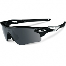 Radarlock Sunglasses - Polished Black Frame, Black Iridium Lens
