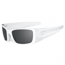 Fuel Cell Sunglasses - Polished White Frame, Black Iridium Lens
