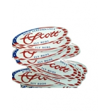 Scott Oval American Flag Decal by Scott Fly Rod