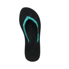 Ginger Flip Flop - Women's-Black/Aqua-6