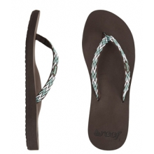 Ginger Drift Flip-Flop - Women's-Brown Aqua White-8