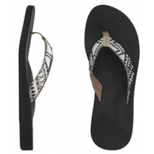 Midday Tides Flip-Flops - Women's-Black/White-8 by Reef