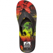 HT Prints Sandals - Men's: Black Mai Tai, 8
