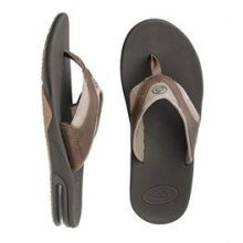 Leather Fanning Sandal - Men's - Brown/Brown In Size by Reef