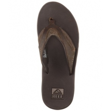 Fanning Leather Flip Flop - Men's-Brown-8