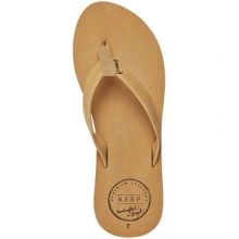Chill Leather Flip-Flops - Women's-Tobacco-6 by Reef