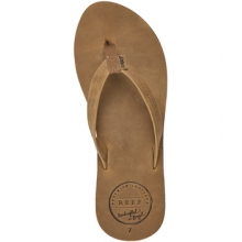 Chill Leather Flip-Flops - Women's-Natural-6 by Reef