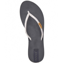 Slim Ginger Flip Flop - Women's-Grey/Silver-6