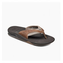 Leather Fanning Flip-Flops - Men's - Brown/Brown In Size: 14 by Reef