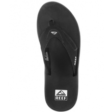 Fanning Flip Flop - Men's-Black/Silver-8 by Reef