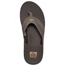Fanning Flip Flop - Men's-Black/Silver-8 by Reef