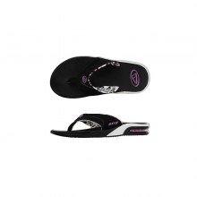 Womens Fanning Black / Leopard 2 6 by Reef