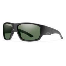 Dragstrip Matte Black Polarized Gray Green