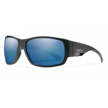 Dockside Matte Black ChromaPop Polarized Blue Mirror by Smith Optics in Medicine Hat Ab