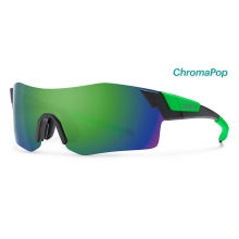 PivLock Arena Matte Black Reactor ChromaPop Sun Green Mirror by Smith Optics