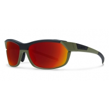 PivLock Overdrive Matte Olive Black Red Sol-X Mirror by Smith Optics