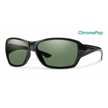 Purist Black ChromaPop Polarized Gray Green by Smith Optics