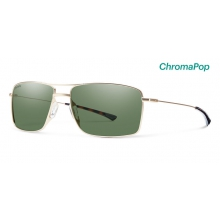 Turner Matte Gold ChromaPop Polarized Gray Green by Smith Optics