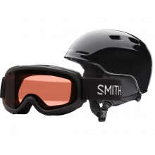 Zoom/Gambler Combo Black Youth Medium (53-58 cm) by Smith Optics
