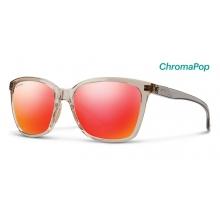 Colette Desert Crystal Smoke ChromaPop Sun Red Mirror by Smith Optics